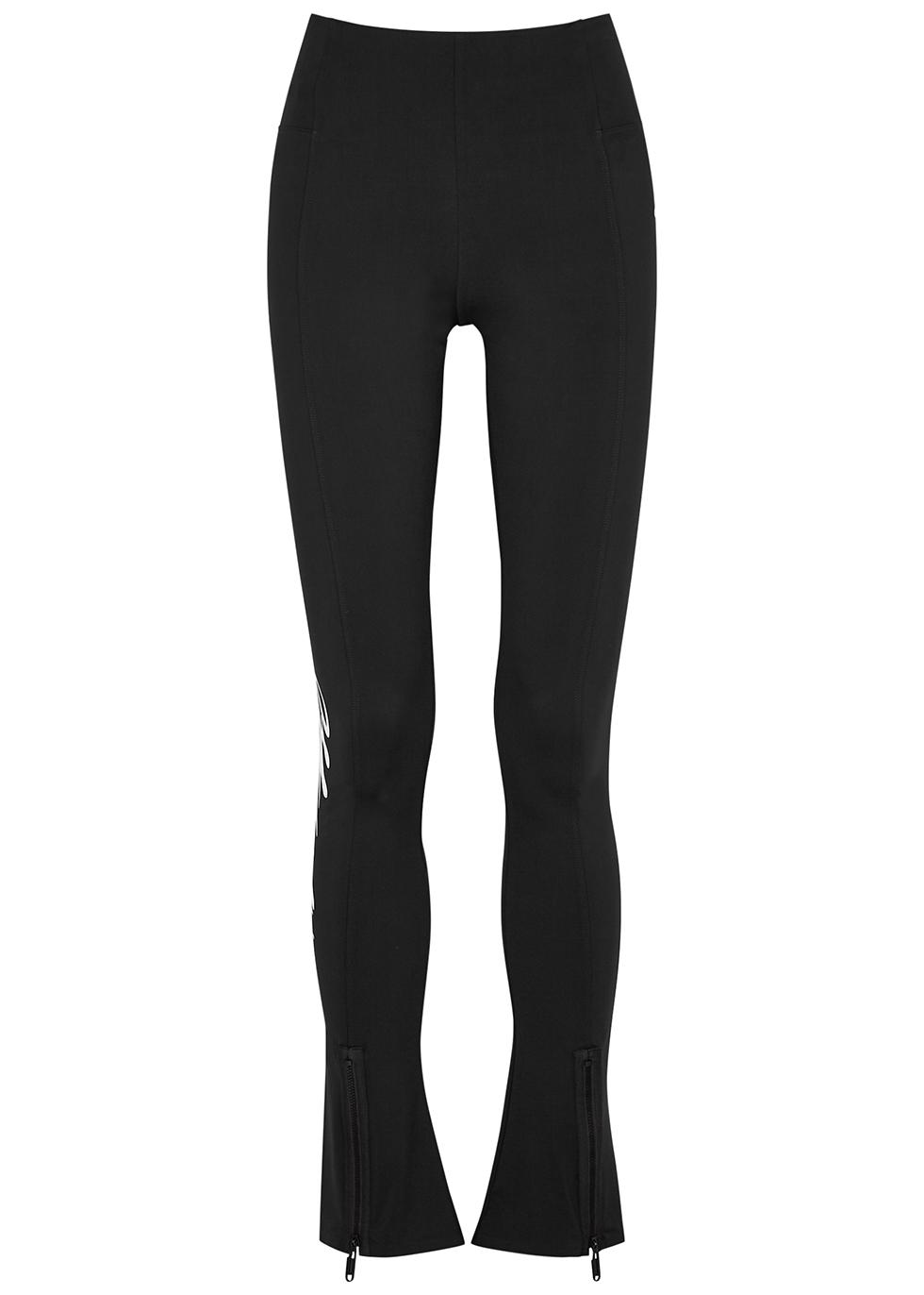 Black logo-print leggings
