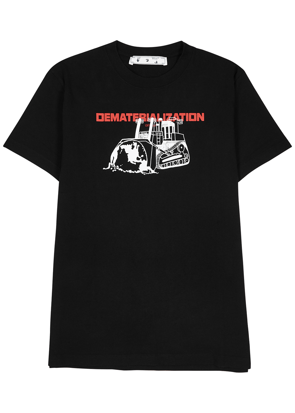 Dematerialization printed cotton T-shirt