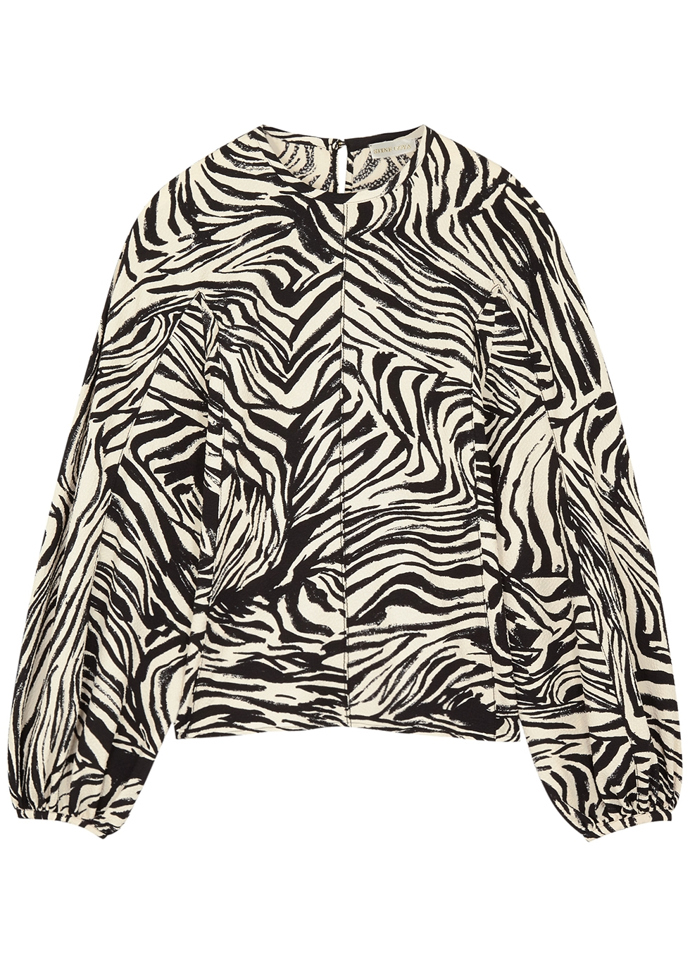 Dianne zebra-print top