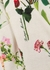 Cream floral-print shirt dress - Boutique Moschino