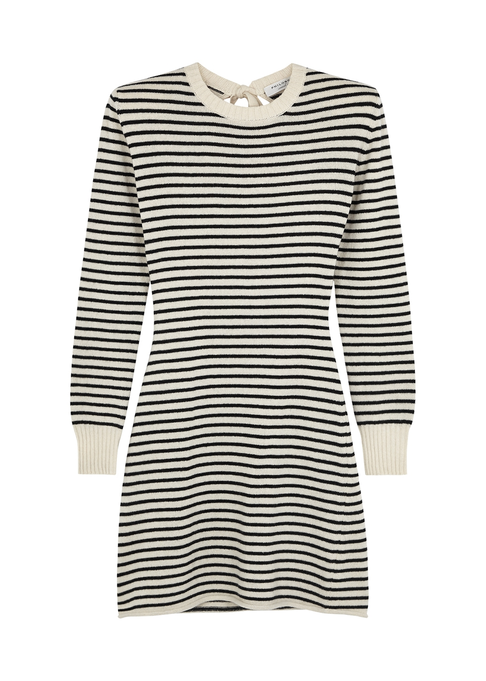 Striped cashmere-blend jumper dress