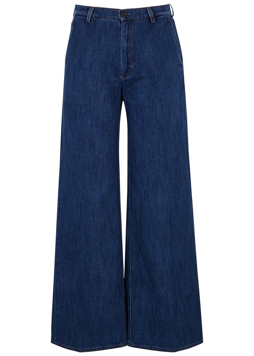 Cavalry dark blue wide-leg jeans