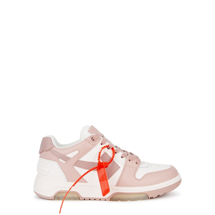 Off-White Sneakers OUT OF OFFICE TWO-TONE LEATHER SNEAKERS