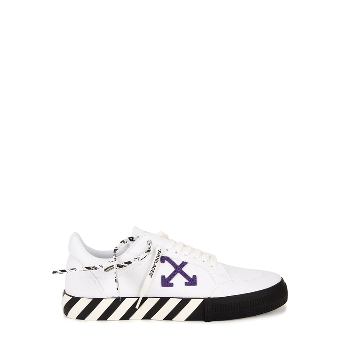 Off-White LOW VULCANIZED BLACK CANVAS SNEAKERS