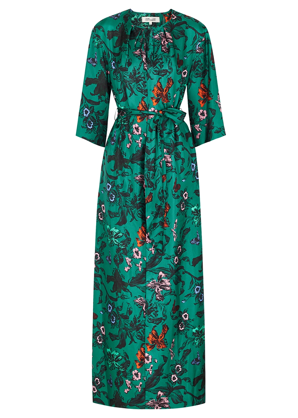 Caris floral-print silk maxi dress