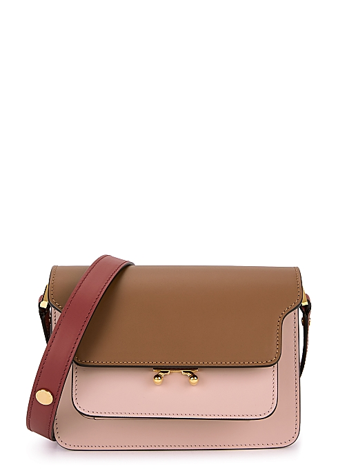 Trunk tri-tone leather shoulder bag - Marni