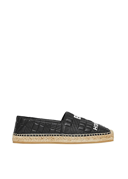 Horseferry print quilted leather espadrilles - Burberry