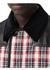 Lambskin panel diamond quilted tartan barn jacket - Burberry