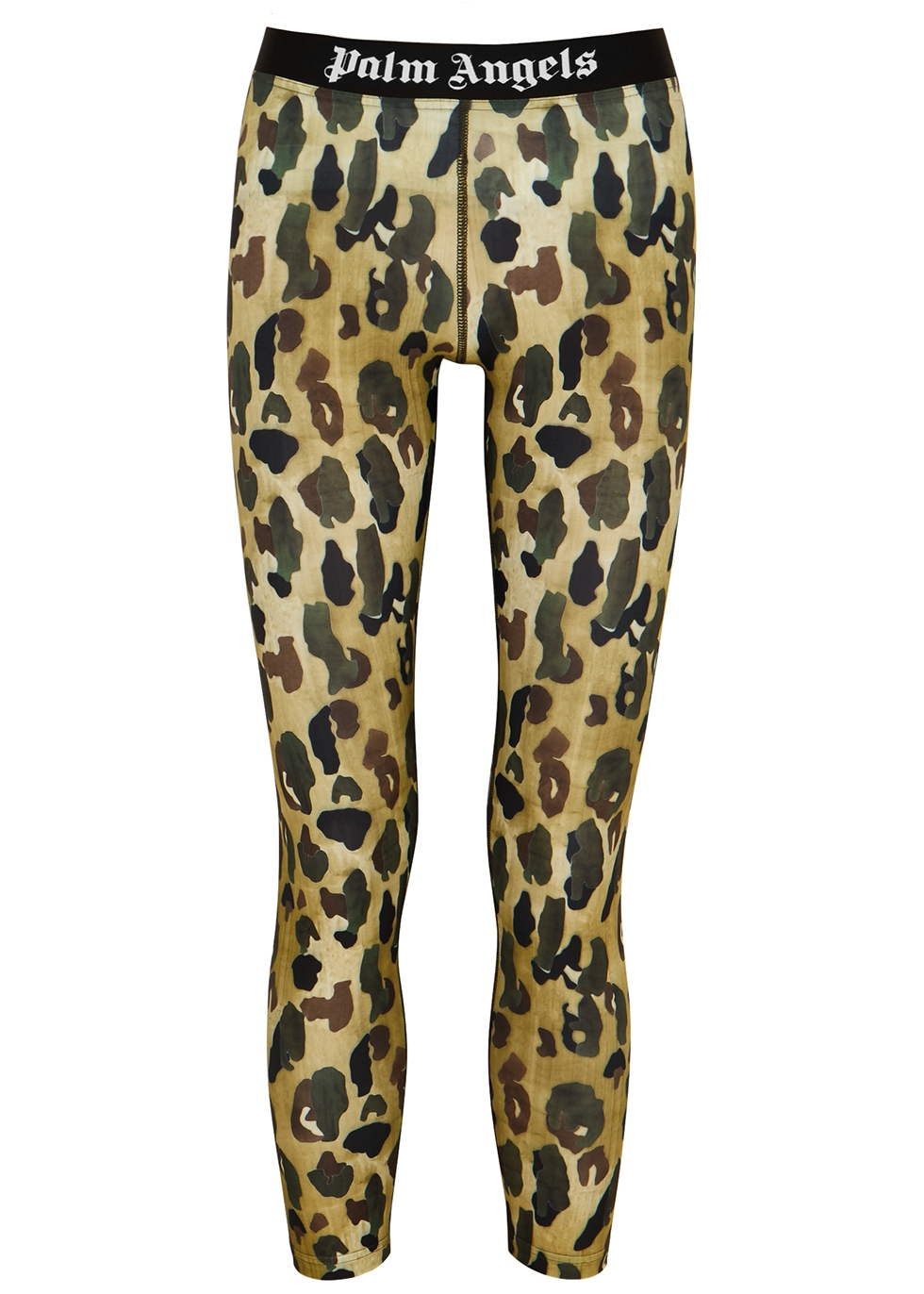 Camouflage-print stretch-jersey leggings