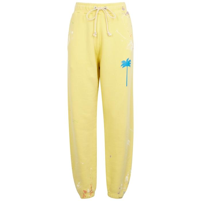 Palm Angels Pants YELLOW COTTON SWEATPANTS