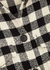 Monochrome checked cotton-blend overshirt - Palm Angels