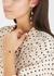 Foil 14kt gold-dipped drop earrings - Jenny Bird