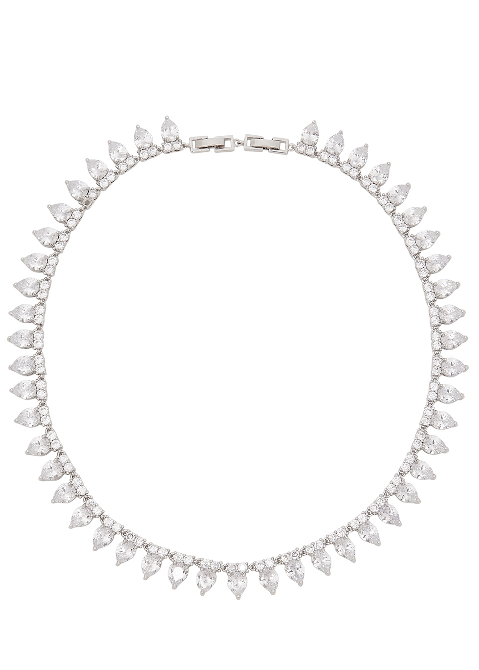 Monarch Pointed crystal-embellished choker