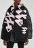 Black and pink logo-intarsia wool scarf - Off-White