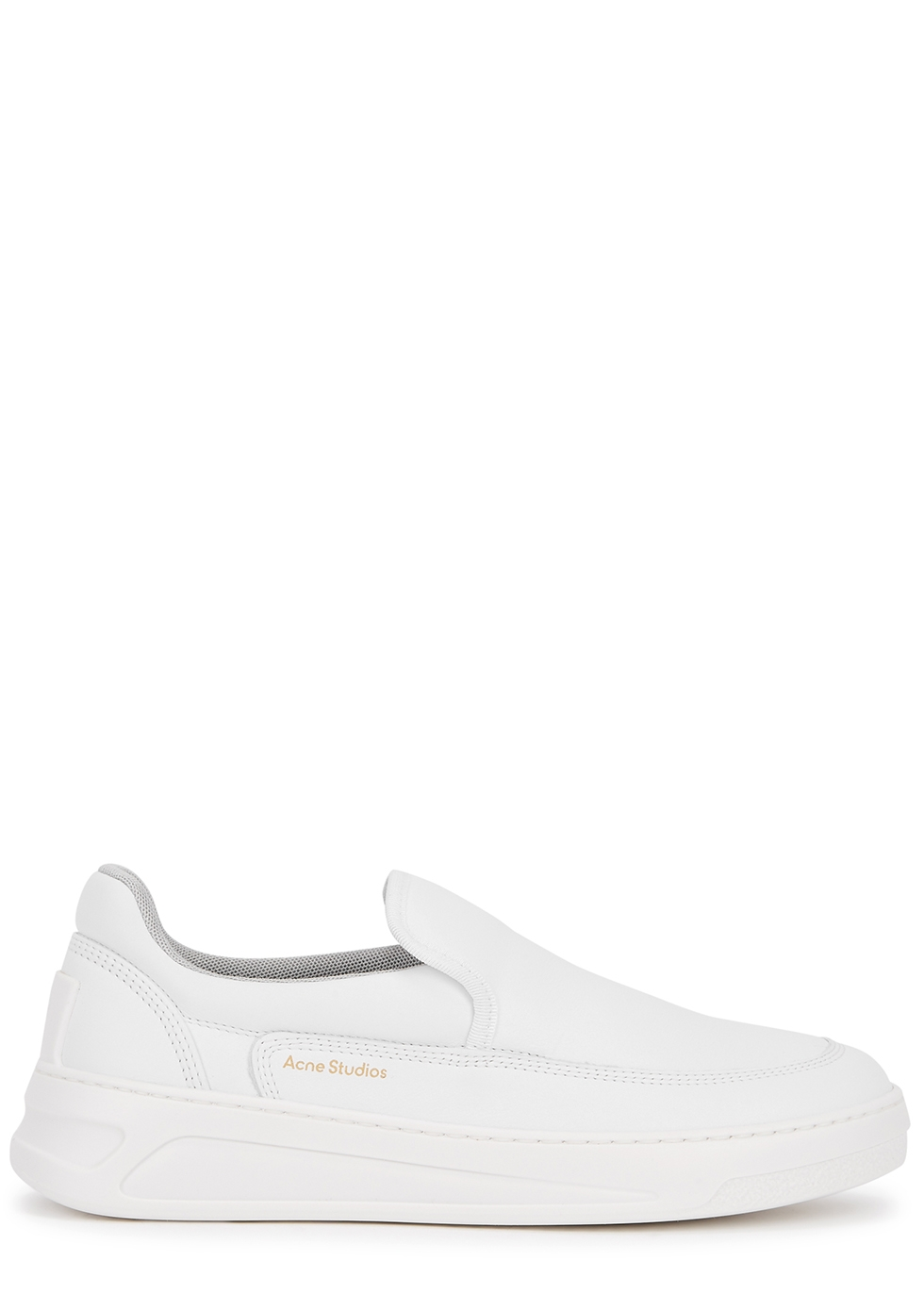 Acne Studios Leathers BENNIE WHITE LEATHER SLIP-ON SNEAKERS