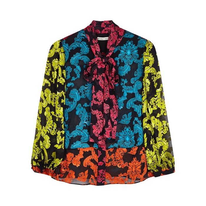 Alice And Olivia JEANNIE DEVORÉ BLOUSE