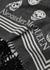 Biker skull-jacquard wool-blend scarf - Alexander McQueen
