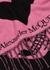 Skull and Heart pink wool-blend scarf - Alexander McQueen