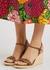 Aitana 90 leather espadrille wedge sandals - Gucci