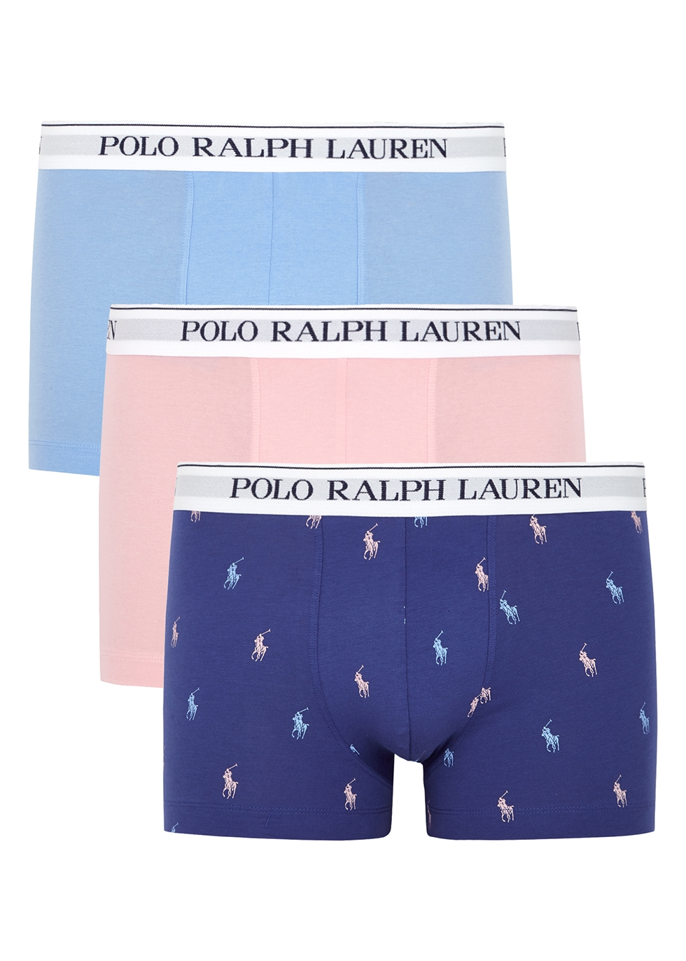 Stretch-cotton boxer trunks - set of three