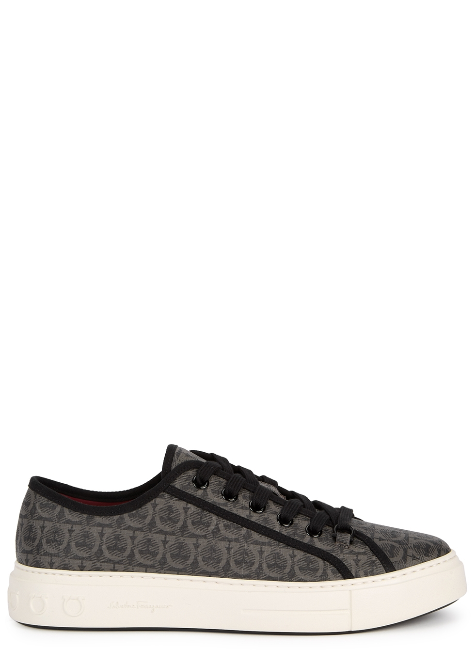 Anson monogrammed coated canvas sneakers