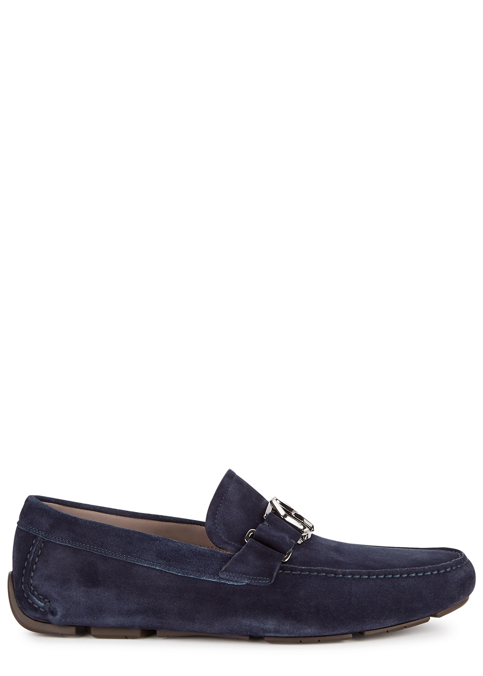 Peter navy suede driving shoes