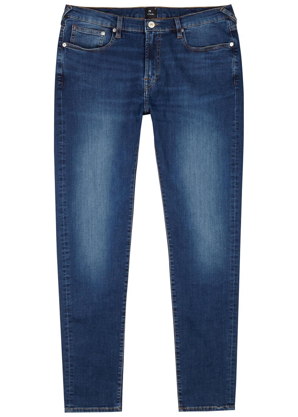 Blue slim-leg jeans