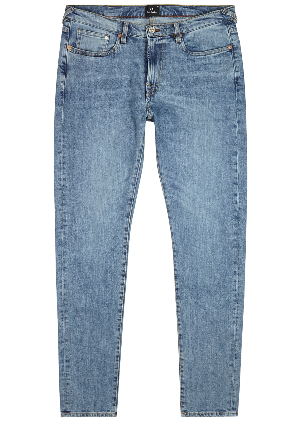 Light blue slim-leg jeans