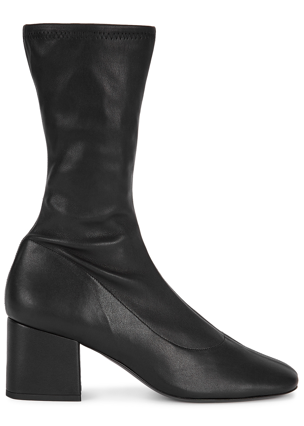 Carlos 60 black leather sock boots