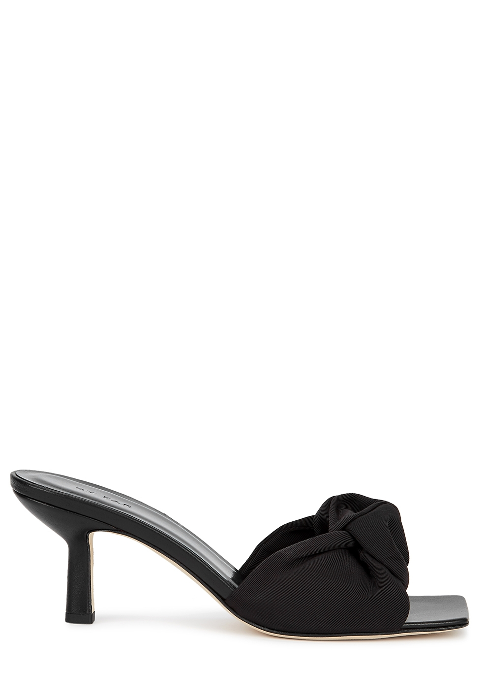 Lana 65 black leather mules