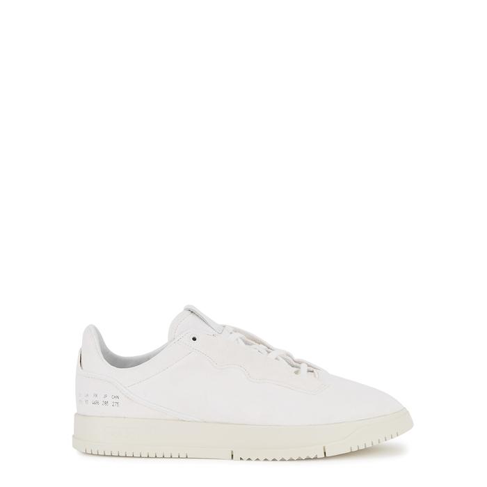 Adidas Originals ADIDAS ORIGINALS SUPERCOURT PREMIUM WHITE SUEDE SNEAKERS