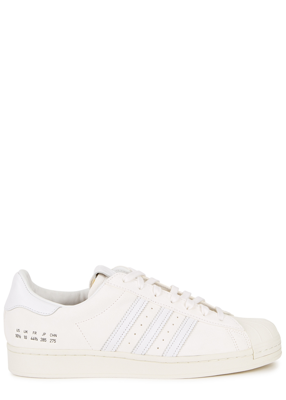 Superstar white suede sneakers