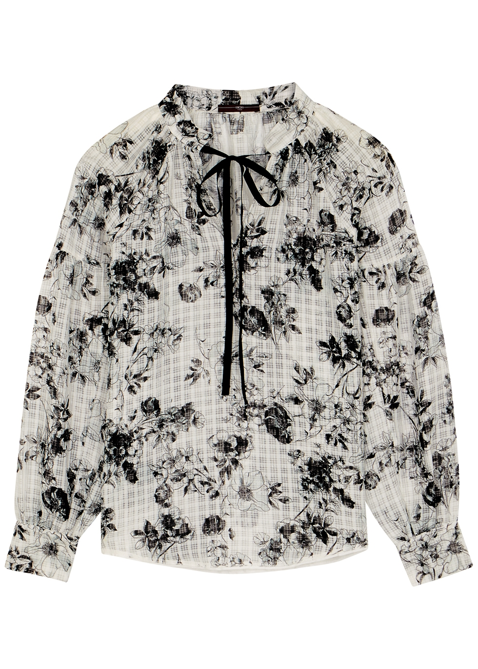 Perception floral-print organza blouse