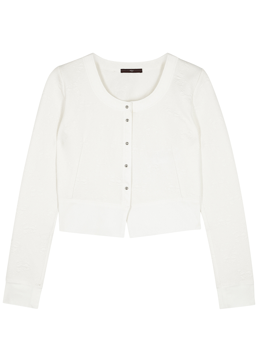 Imagine white stretch-knit cardigan