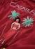 Red embroidered satin bomber jacket - CASABLANCA