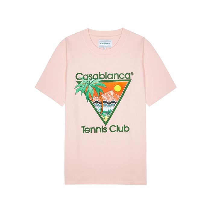 Casablanca T-shirts TENNIS CLUB PRINTED COTTON T-SHIRT