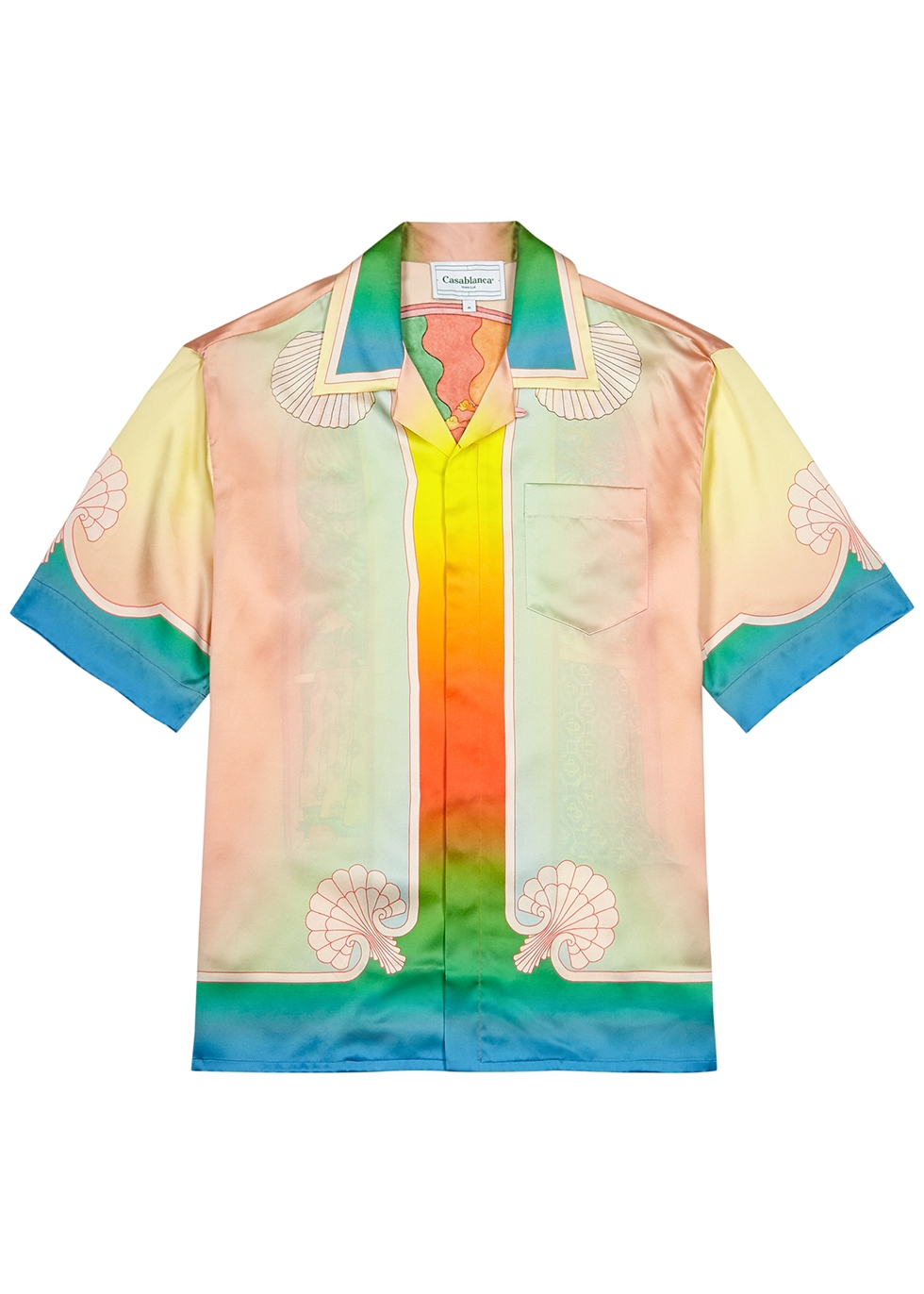 Lucid Dreams printed silk shirt