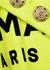 Neon yellow logo cotton tank - Balmain