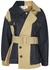 Panelled denim and twill trench coat - MONSE