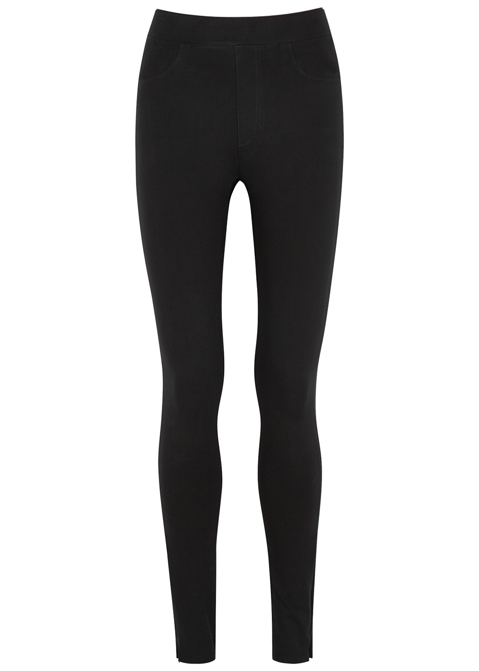 Reflex black stretch-jersey leggings