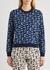 Navy logo-intarsia knitted jumper - Kenzo