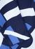 Navy logo-intarsia knitted jumper dress - Kenzo