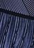 Blue metallic-weave knitted midi dress - RED Valentino