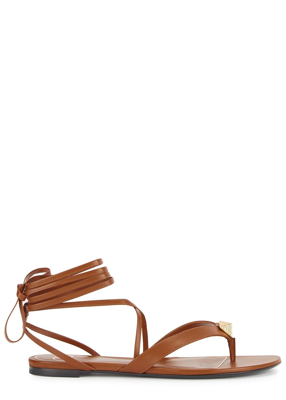 Valentino Garavani Upstud leather thong sandals
