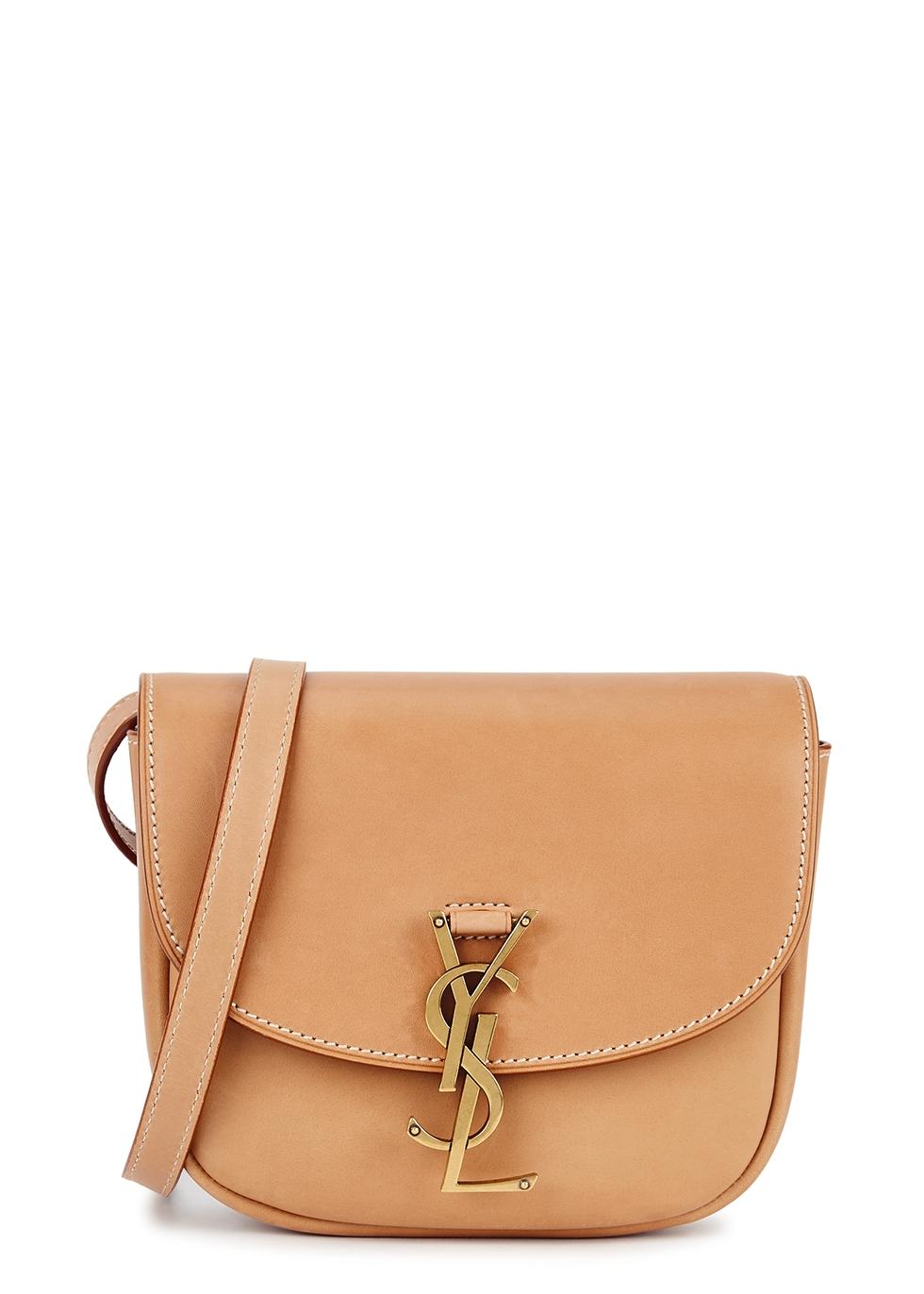 Kaia light brown leather cross-body bag