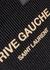 Rive Gauche black raffia tote - Saint Laurent
