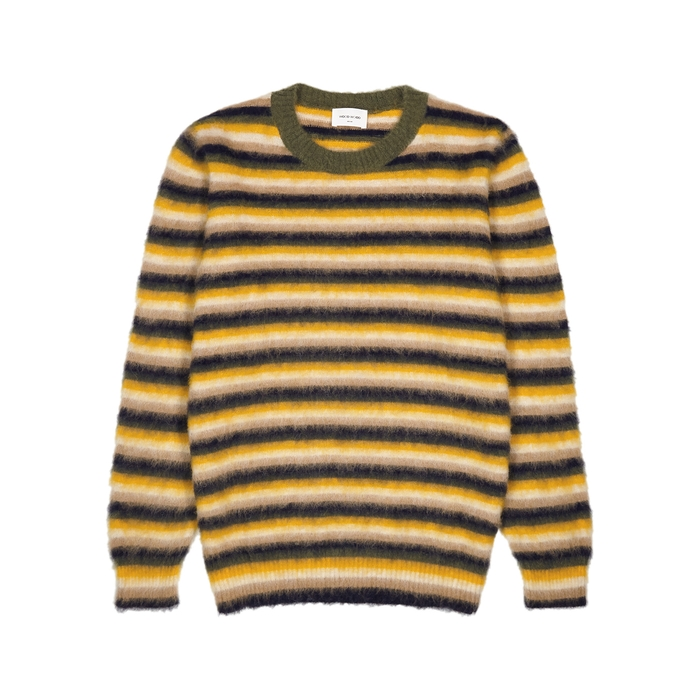 Wood Wood Sweaters JOHN STRIPED FINE-KNIT JUMPER