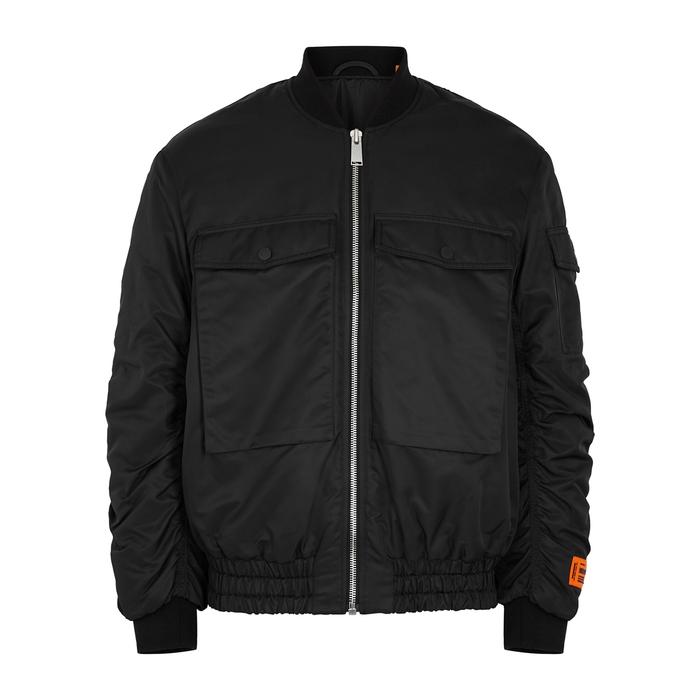 Heron Preston Bomber jackets BLACK NYLON BOMBER JACKET