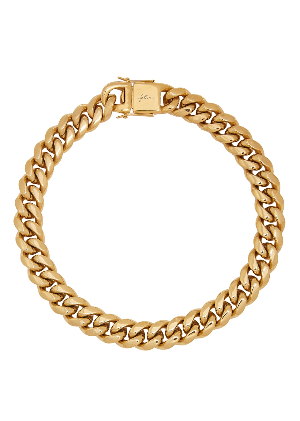 Ruth Curb gold-plated chain necklace