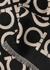 Black Gancini-intarsia wool scarf - Salvatore Ferragamo